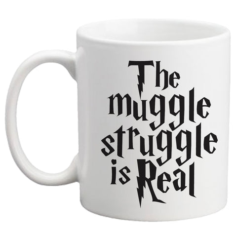 The Muggle Struggle is Real Coffee Mug - Designs by Dee's Hands  - 2