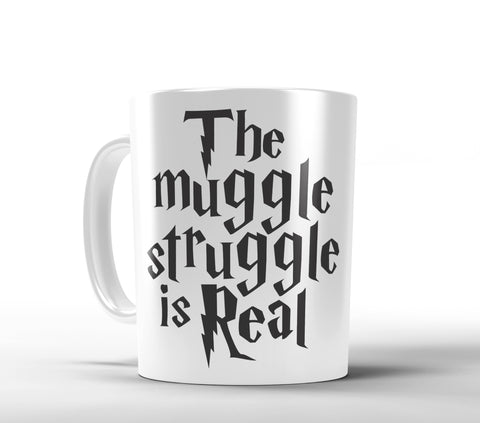 The Muggle Struggle is Real Coffee Mug - Designs by Dee's Hands  - 1