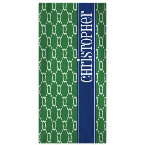 Nautical Ropes Monogrammed Beach Towel - 63 Colors - Designs by Dee's Hands  - 1