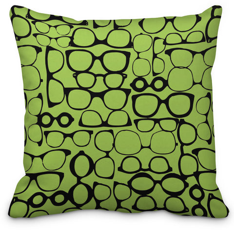 Glasses Throw Pillow - Choose Your Color - Designs by Dee's Hands  - 1