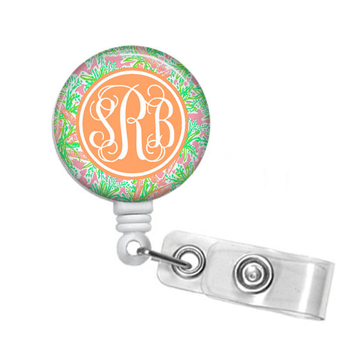Badge Holder, Retractable Badge Reel - Nibbles - Designs by Dee's Hands  - 1