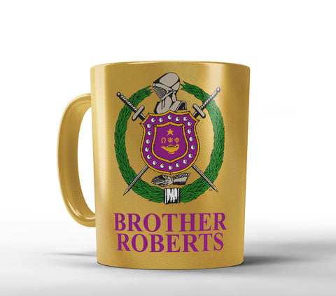 RQQ! Office - ΩΨΦ 11 oz Metallic Coffee Mug - Omega Psi Phi Personalized Mug - Designs by Dee's Hands  - 1