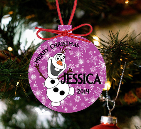 Personalized Frozen Christmas Ornament - Olaf - Designs by Dee's Hands  - 2