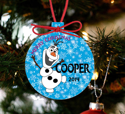 Personalized Frozen Christmas Ornament - Olaf - Designs by Dee's Hands  - 1