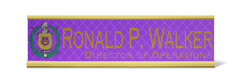 Omega Psi Phi Personalized Desk Name Plate - Holder not included see link in description where to buy - Designs by Dee's Hands  - 1