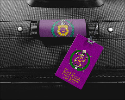 RQQ! Travel - Omega Psi Phi Luggage Handle Wrap, Luggage Tag