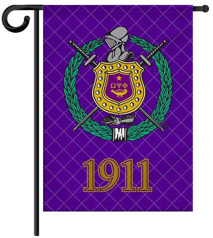 Fraternity Garden Yard Flag or House Flag Banner - Omega Psi Phi Fraternity - Designs by Dee's Hands  - 1