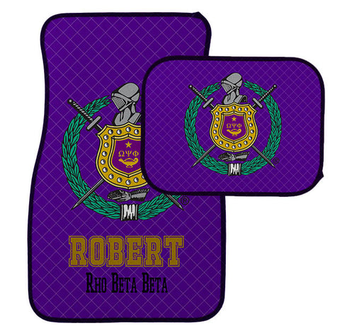 Car Mats Personalized Omega Psi Phi Car mats - Designs by Dee's Hands