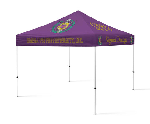 Omega Psi Phi Fraternity Portable Canopy Tent, Fraternity Greek Tent - Designs by Dee's Hands  - 1