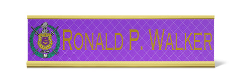 Omega Psi Phi Personalized Desk Name Plate - Holder not included see link in description where to buy - Designs by Dee's Hands  - 2