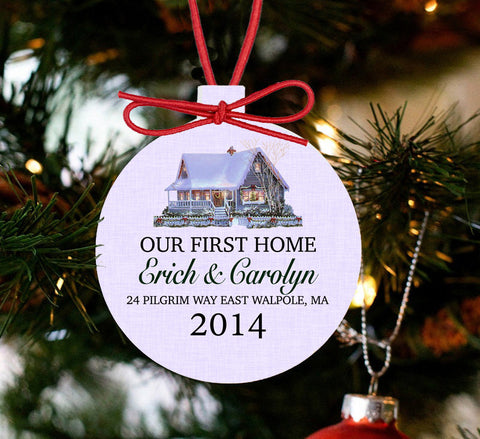 Personalized Our First Home Christmas Ornament - New Home - Designs by Dee's Hands