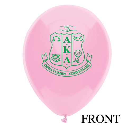 "12"" Alpha Kappa Alpha Sorority Latex Balloons - Will Begin to Ship by 12/5/2016 - Designs by Dee's Hands  - 1"