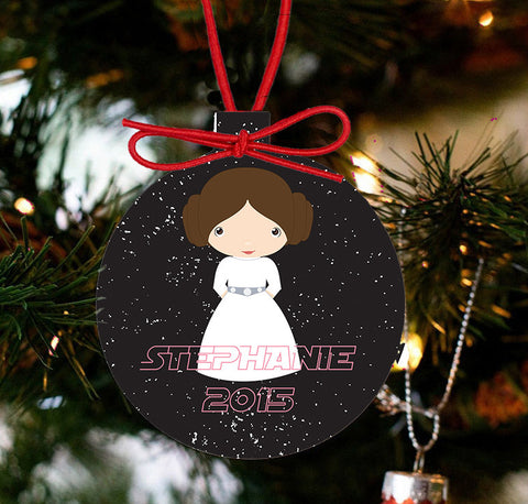 Personalized Christmas Star Wars Ornament - Princess Leia - Designs by Dee's Hands