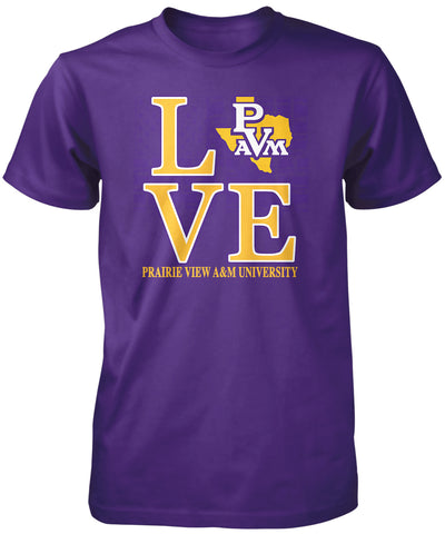 PVAMU! Apparel - Prairie View A&M Love T-Shirt