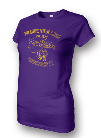 PVAMU! Apparel - Prairie View A&M Panthers Ladies Tee