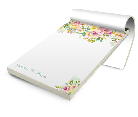 Personalized Stationery Notepad, Springtime - Designs by Dee's Hands
