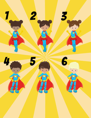 Personalized Pocket Folder Super Hero Boy or Girl - Designs by Dee's Hands  - 3