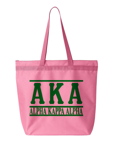 AKA Letters & Name Simple Tote - Designs by Dee's Hands