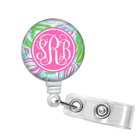 Badge Holder, Retractable Badge Reel - Ring the Bellboy - Designs by Dee's Hands  - 1