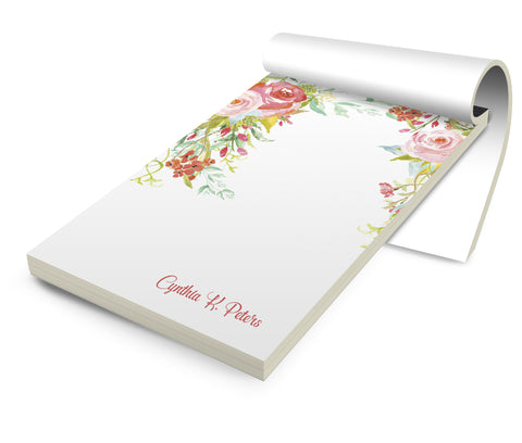 Personalized Stationery Notepad, Flowerfalls - Designs by Dee's Hands