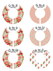 Custom Baby Closet Dividers Clothes Organizers - Shabby Chic - Peach - Designs by Dee's Hands  - 2