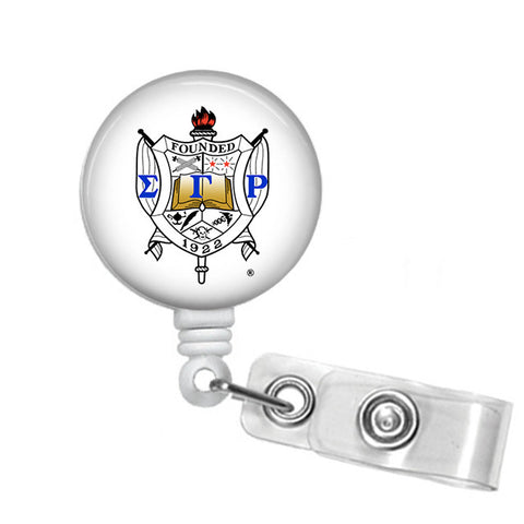 Badge Reel ID Holder Sigma Gamma Rho Shield - Designs by Dee's Hands  - 1