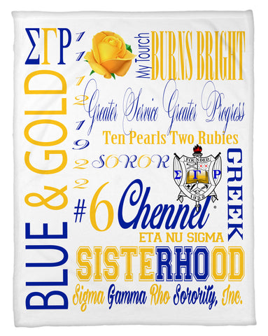 SGRho Subway Art Fleece Blanket - Personalized - NEW LOWER PRICING!!! - White or Black - Designs by Dee's Hands  - 1