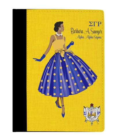 Ms. SGRho Personalized Padfolio Notebook - Designs by Dee's Hands  - 1