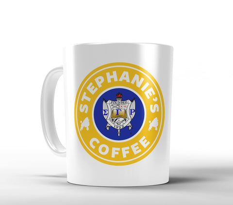 SGRho Starbucks Inspired Personalized Coffee Mug - Designs by Dee's Hands