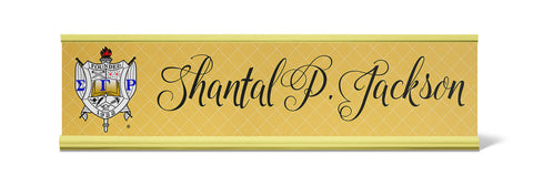 Sigma Gamma Rho Personalized Desk Name Plate - Holder not included see link in description where to buy - Designs by Dee's Hands