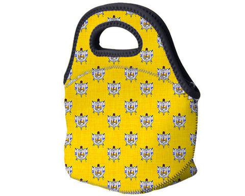 SGRho Monogrammed Lunch Tote - ΣΓΡ Sorority Shield Monogram (optional) - Designs by Dee's Hands  - 2