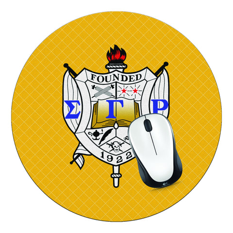 Sigma Gamma Rho Sorority Crest Mouse Pad, SGRho Mouse Pad - Designs by Dee's Hands