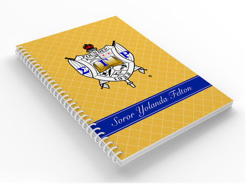 Personalized Notebook, Sigma Gamma Rho Sorority, Inc. - Designs by Dee's Hands