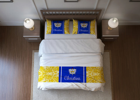 SGRho Personalized Bed Runner - Sigma Gamma Rho Sorority - Designs by Dee's Hands  - 1