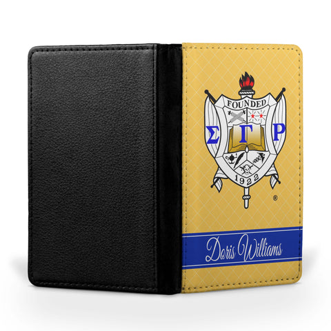 Personalized Passport Cover - Sigma Gamma Rho Sorority