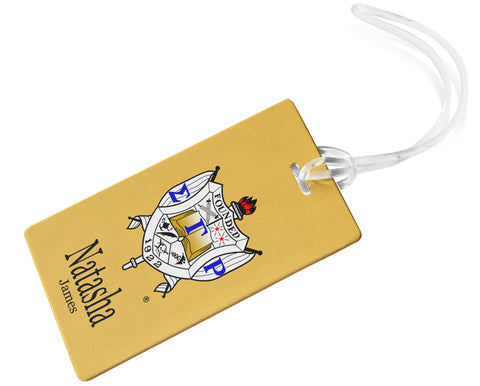 Sigma Gamma Rho Sorority Personalized Luggage Tag or Briefcase Tag - Designs by Dee's Hands  - 1