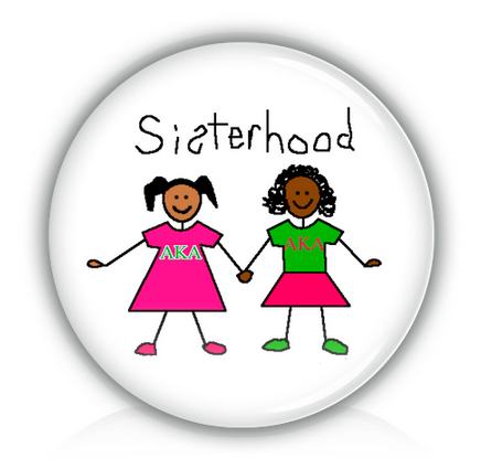 "AKA 3"" magnet - Sisterhood - Designs by Dee's Hands  - 2"