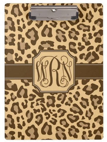 Clipboard Dry Erase Board - Leopard Brown - Designs by Dee's Hands  - 1