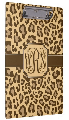 Clipboard Dry Erase Board - Leopard Brown - Designs by Dee's Hands  - 3