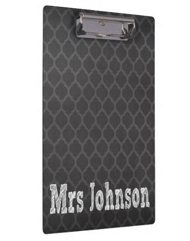 Clipboard Dry Erase Board - Moroccan Chalkboard - Designs by Dee's Hands  - 3