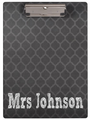 Clipboard Dry Erase Board - Moroccan Chalkboard - Designs by Dee's Hands  - 1