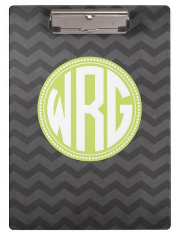 Clipboard Dry Erase Board - Chevron Chalkboard - Designs by Dee's Hands  - 1