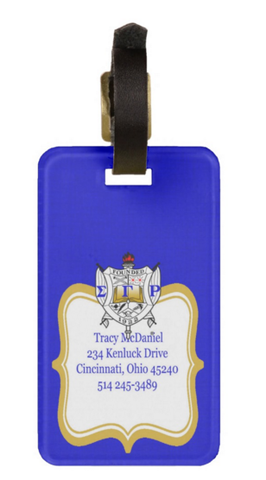 Sigma Gamma Rho Sorority Personalized Luggage Tag or Briefcase Tag - Designs by Dee's Hands  - 2