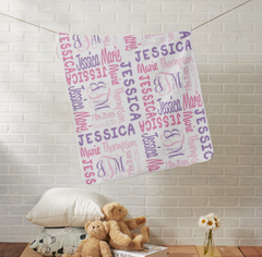 Personalized Baby Blanket with Monogram - Girl - 64 Colors - Designs by Dee's Hands  - 3