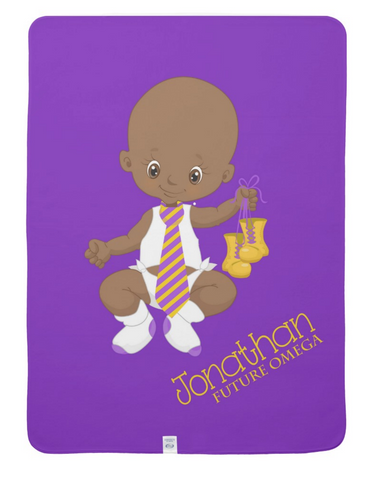 RQQ! Baby - Future OMEGA Personalized Baby Blanket - Designs by Dee's Hands  - 3