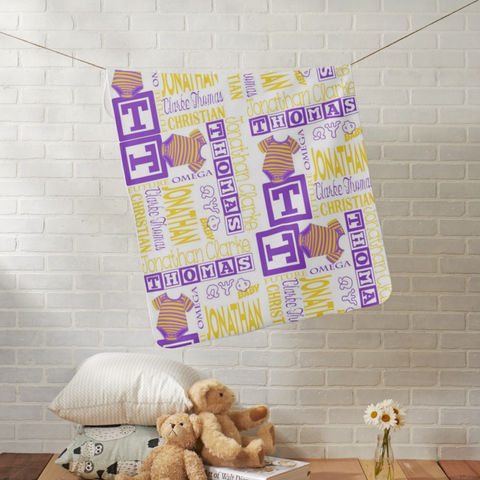 RQQ! Baby - Future OMEGA Personalized Baby Blanket - Designs by Dee's Hands  - 1