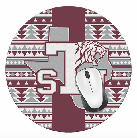 TSU! Office - Texas Southern University Mouse Pad, TSU Mouse Pad - TSU Tribal Logo