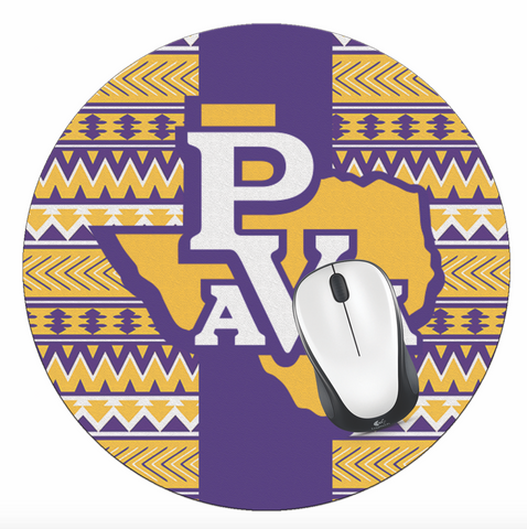 PVAM! Office - Prairie View A&M University Mouse Pad, PVAMU Mouse Pad - PVAM Tribal Print