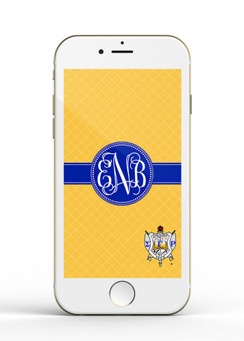 SGRho Monogrammed iPhone or Samsung Galaxy Wallpaper, Personalized iphone lockscreen - Cell Phone Background Lock Screen - Designs by Dee's Hands