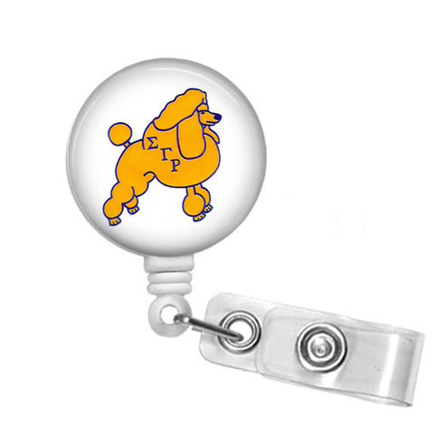 Badge Reel ID Holder Sigma Gamma Rho POODLE - Designs by Dee's Hands  - 1